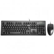 Kit Tastatura + Mouse cu fir A4Tech, KM-720 + OP-620D, USB, negru
