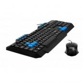 Kit Tastatura Multimedia + Mouse LogiStep LSDK-5181, Qwerty, USB, 10 taste multimedia, 800 dpi, Negru