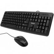 Kit Tastatura Spacer 104 taste, Anti-Spill, Negru + Mouse Optic Spacer SPMO-F02, 1000 dpi, 3 Butoane, 1 Rotita Scroll, Negru Componente & Accesorii