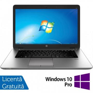 Laptop HP EliteBook 850 G1, Intel Core i7-4600U 2.10GHz, 8GB DDR3, 120GB SSD, Webcam, 15.6 Inch + Windows 10 Pro, Refurbished