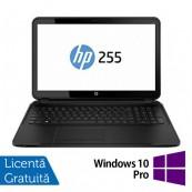 Laptop Refurbished HP 255 G3, AMD E1-6010 1.35GHz, 4GB DDR3, 500GB SATA, DVD-RW, Webcam, 15.6 inch + Windows 10 Pro