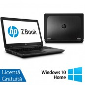 Laptop Refurbished Hp Zbook 15, Intel Core i7-4700MQ 2.40Ghz, 16GB DDR3, 120GB SSD, 15 inch, LED display + Windows 10 Home Laptopuri