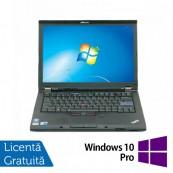 Laptop Refurbished LENOVO T410, Intel Core i5-520M 2.40 GHz, 4GB DDR3, 160GB SATA, DVD-RW, 14.1 Inch + Windows 10 Pro Laptopuri