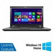 Laptop Refurbished Lenovo ThinkPad T430, Intel Core i5-3320M 2.60GHz, 4GB DDR3, 320GB SATA, DVD-RW, 14 Inch + Windows 10 Home Laptopuri