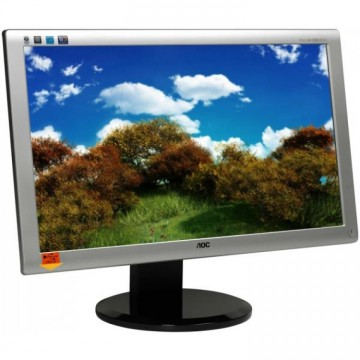 Monitor AOC 2436PWA, 23.6 Inch Full HD LED, VGA, DVI, Second Hand