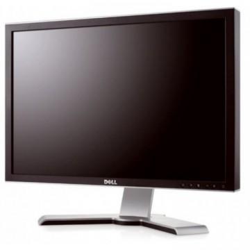Monitor DELL UltraSharp 2408WFP, LCD, 24 inch, 1920 x 1200, VGA, 2 x DVI, 4 x USB, HDMI, Display Port, WIDESCREEN, Fara Picior, Grad B, Second Hand Monitoare