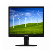 Monitor PHILIPS 190S5, LCD, 19 inch, 1280 x 1024, VGA, DVI, Fara picior, Second Hand Monitoare