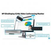 Monitor Refurbished HP EliteDisplay E240C, 24 inch, IPS, W LED, VGA, HDMI, USB, Webcam, Full HD