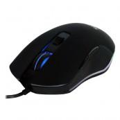 Mouse Spacer Gaming, Cu fir, USB, Optic, 2400 dpi, Butoane/scroll 6/1, Negru, Iluminare
