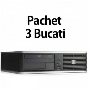 Pachet 3 Bucati - Calculator Second Hand HP DC7900 SFF, Intel Core 2 Duo E7500 2.93GHz, 4GB DDR2, 160GB SATA, DVD-ROM