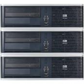 Pachet 3x Calculator HP DC5850, AMD Athlon 64 X2 5200B 2.70GHz, 4GB DDR2, 160GB SATA, DVD-RW