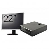 Pachet Calculator HP 6300 SFF, Intel Core i5-2400 3.10GHz, 4GB DDR3, 250GB SATA, 1 Port Com + Monitor 22 Inch