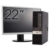 Pachet Calculator HP RP5800 SFF, Intel Core i3-2120 3.30GHz, 8GB DDR3, 250GB SATA, Radeon HD7470 1GB DDR3, DVD-ROM, 2 Porturi Serial + Monitor 22 Inch