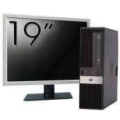 Pachet Calculator HP RP5800 SFF, Intel Core i5-2400 3.10GHz, 4GB DDR3, 250GB SATA, DVD-ROM, 2 Porturi Com + Monitor 19 Inch
