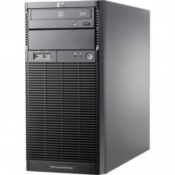 Server HP ProLiant ML110 G6 Tower, Intel Xeon Quad Core X3430 2.40GHz, 16GB DDR3, 4 x 2TB SATA, DVD-ROM, PSU 300W, Second Hand Servere & Retelistica