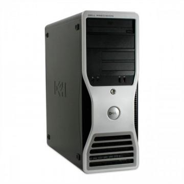 Workstation DELL Precision T5400, Intel Xeon Quad Core X5450 3.00GHz, 8GB DDR2, 250GB SATA, DVD-ROM, Second Hand Calculatoare