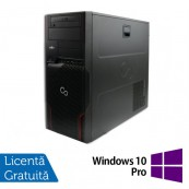 Workstation Fujitsu Celsius W510, Intel Xeon E3-1225 3.10GHz, 8GB DDR3, 500GB SATA, DVD-ROM + Windows 10 Pro, Refurbished Calculatoare