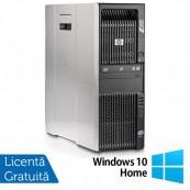Workstation HP Z600, Intel Xeon Quad Core E5540 2.53GHz-2.80GHz, 8GB DDR3 ECC, 1TB SATA, nVidia GT640/1GB GDDR3 + Windows 10 Home