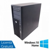 Workstation Refurbished HP Z210, Intel Xeon Quad core E3-1240, 3.3 Ghz-3.70GHz, 4GB DDR3, 500GB HDD, DVD-ROM, nVidia Quadro NVS 300/512MB + Windows 10 Home Calculatoare