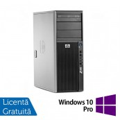 WorkStation Refurbished HP Z400, Intel Xeon Quad Core E5620, 2.40GHz, 4GB DDR3 ECC, 500GB SATA, NVIDIA GT605/1GB, DVD-RW + Windows 10 Pro Calculatoare