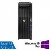 Workstation Refurbished HP Z620, 2x Intel Xeon E5-2620 2.0GHz-2.5GHz HEXA Core, 32GB DDR3 ECC, 2TB HDD + 240GB SSD NOU, nVidia Quadro 4000/2GB GDDR5 + Windows 10 Pro