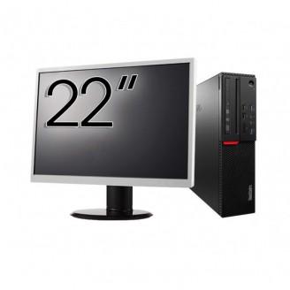 Pachet Calculator LENOVO M700 SFF, Intel Core i7-6700 3.40GHz, 8GB DDR4, 500GB SATA + Monitor 22 Inch