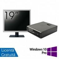 Pachet Calculator HP 6300 SFF, Intel Core i5-2400 3.10GHz, 4GB DDR3, 250GB SATA, 1 Port Com + Monitor 19 Inch + Windows 10 Pro