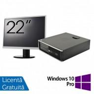 Pachet Calculator HP 6300 SFF, Intel Core i3-2120 3.30GHz, 8GB DDR3, 250GB SATA, Radeon HD7470 1GB DDR3, 1 Port Serial + Monitor 22 Inch + Windows 10 Pro