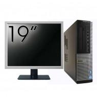 Pachet Calculator DELL OptiPlex 7010 Desktop, Intel Core i5-3550 3.30GHz, 4GB DDR3, 500GB SATA, DVD-RW + Monitor 19 Inch
