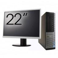 Pachet Calculator DELL OptiPlex 7010 Desktop, Intel Core i5-3550 3.30GHz, 4GB DDR3, 500GB SATA, DVD-RW + Monitor 22 Inch