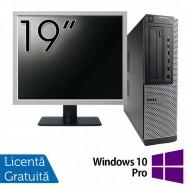 Pachet Calculator DELL 790 Desktop, Intel Core i5-2400 3.10GHz, 4GB DDR3, 250GB SATA, DVD-ROM + Monitor 19 Inch + Windows 10 Pro