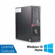 Calculator FUJITSU SIEMENS E720 Desktop, Intel Core i3-4130 3.40GHz, 8GB DDR3, 500GB SATA, Placa video Gaming AMD Radeon R7 350 4GB, DVD-RW + Windows 10 Home
