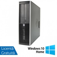 Calculator HP Compaq 6200 Pro SFF, Intel Core i3-2100 3.10GHz, 4GB DDR3, 500GB SATA, DVD-RW + Windows 10 Home