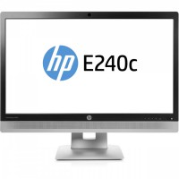Monitor HP EliteDisplay E240C, 24 Inch IPS LED, Full HD, VGA, HDMI, USB, Webcam, Fara Picior