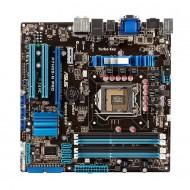 Placa de baza Socket 1156 + CPU Xeon X3440 2.53Ghz+ RAM8GB, gen 1, DDR3, ASUS model: P7H55-M PRO, standard ATX, fara shield, cooler, second hand