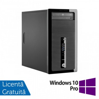 Calculator HP 400 G1 Tower, Intel Core i3-4130 3.40GHz, 4GB DDR3, 500GB SATA, DVD-ROM + Windows 10 Pro