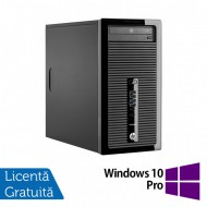 Calculator HP 400 G2 Tower, Intel Core i3-4130 3.40GHz, 8GB DDR3, 240GB SSD, DVD-RW + Windows 10 Pro