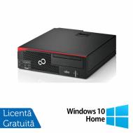 Calculator Fujitsu Esprimo D756 SFF, Intel Core i3-6100 3.10GHz, 8GB DDR4, 240GB SSD, Placa video Gaming Geforce GTX 750/4GB GDDR5/128Bit, DVD-RW + Windows 10 Home
