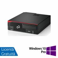 Calculator Fujitsu Esprimo D756 SFF, Intel Core i3-6100 3.10GHz, 8GB DDR4, 240GB SSD, Placa video Gaming AMD Radeon R7 350 4GB, DVD-RW + Windows 10 Pro
