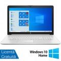 Laptop Nou HP 15-DY1091, Intel Core Gen 10 i3-1005G1 1.20GHz, 8GB DDR4, 256GB SSD, 15.6 Inch, Bluetooth, Webcam, Natural Silver + Windows 10 Home