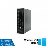 Calculator HP 400 G1 SFF, Intel Core i3-4130 3.40GHz, 4GB DDR3, 500GB SATA, DVD-RW + Windows 10 Home