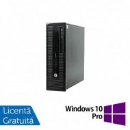 Calculator HP 400 G1 SFF, Intel Core i3-4130 3.40GHz, 4GB DDR3, 500GB SATA, DVD-RW + Windows 10 Pro