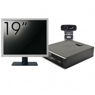 Pachet Calculator HP 6300 SFF, Intel Core i3-2120 3.30GHz, 4GB DDR3, 500GB SATA + Monitor 19 Inch + Webcam + Tastatura si Mouse