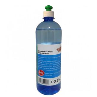 Igienizant de maini cu picurator 0.75L, 75% pe baza de Alcool Etilic
