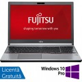 Laptop FUJITSU SIEMENS Lifebook E756, Intel Core i5-6200U 2.30GHz, 8GB DDR4, 240GB SSD, DVD-RW, 15.6 Inch Full HD, Webcam, Tastatura Numerica + Windows 10 Pro
