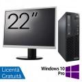 Pachet Calculator Lenovo Thinkcentre M73 SFF, Intel Core i5-4430 3.00GHz, 4GB DDR3, 500GB SATA + Monitor 22 Inch + Windows 10 Pro