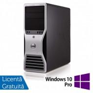 Workstation Dell T5500, Intel Xeon Quad Core E5630 2.53GHz-2.80GHz, 16GB DDR3, 1TB SATA, Placa video Gaming AMD Radeon R7 350 4GB GDDR5 128-Bit + Windows 10 Pro
