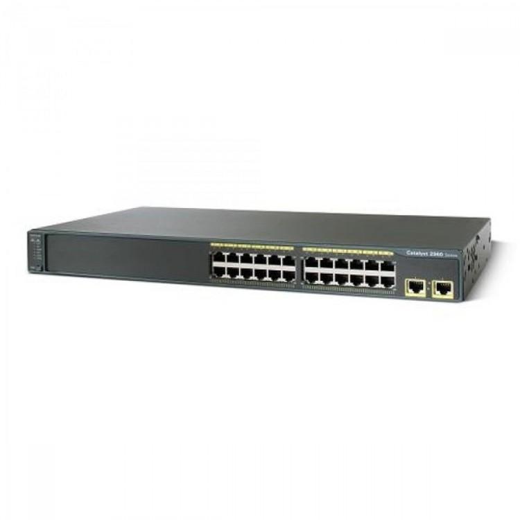 Switch Cisco WS-2960-24TT-L, 24 porturi Rj-45 10/100