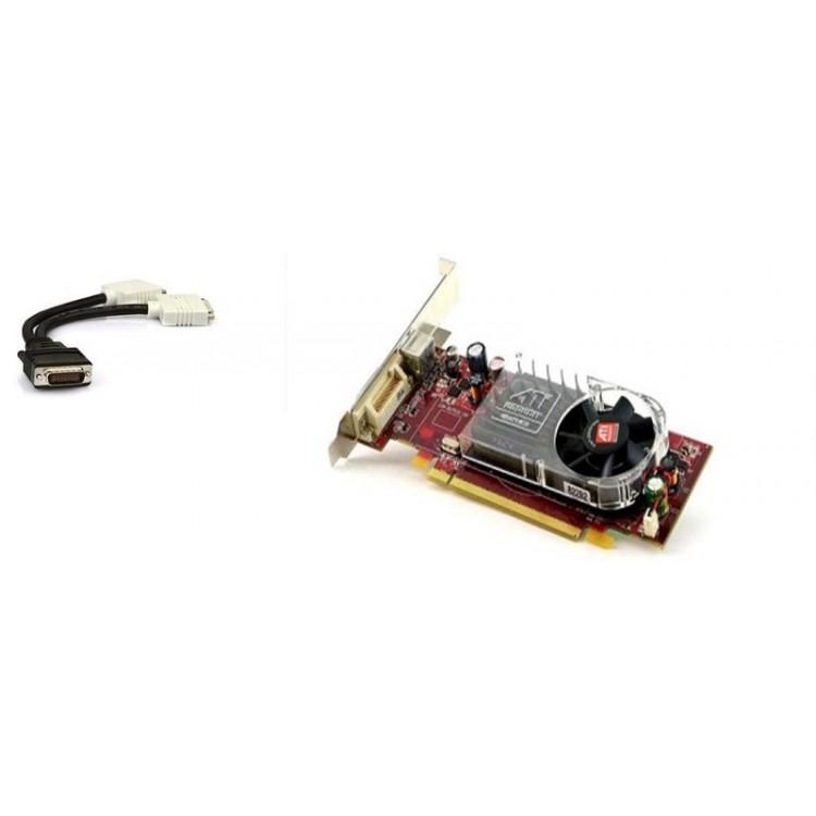 placa video pci-e ati radeon hd 2400 xt, 256 mb, dms-59, tv-out + adaptor dms-59 la 2 x dvi