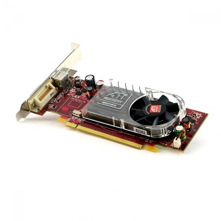 Placa video PCI-E Ati Radeon HD 2400 XT, 256 Mb, DMS-59, TV-out, High Profile Design